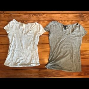 Two H&M v-necks